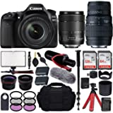 Canon EOS 80D DSLR Camera with EF-S 18-135mm f/3.5-5.6 is USM + Sigma 70-300mm f/4-5.6 DG Macro Lens for Canon EOS & All…