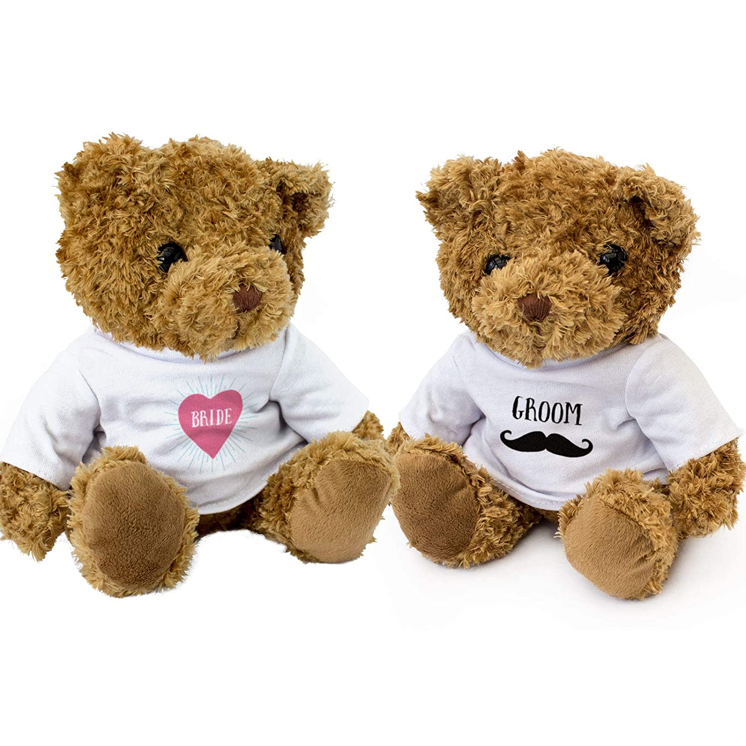 1d8fb76e961 Amazon.com  New - Bride and Groom Teddy Bears - Cute and Cuddly - Wedding  Present Gift  Toys   Games