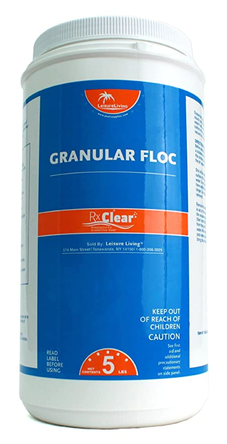 Amazon.com : Rx Clear Granular Floc | 5 Pound Bottle | Swimming Pool ...