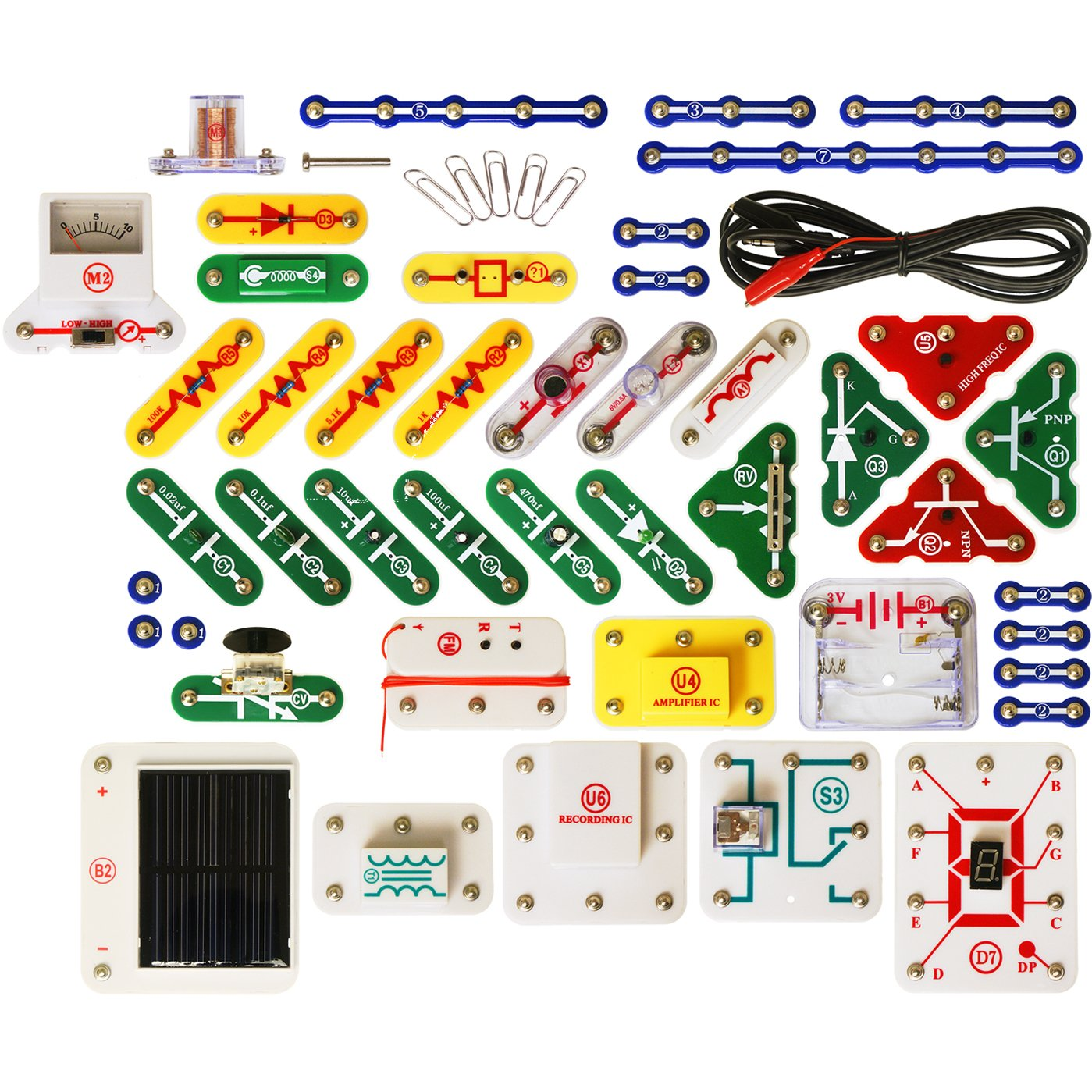 Snap Circuits Uc 60 Upgrade Kit Sc 100 To 750 Elenco Electronics Inc Electronic Set Product Description