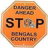 """NFL Cincinnati Bengals Stop Sign, 12"""" x 12"""
