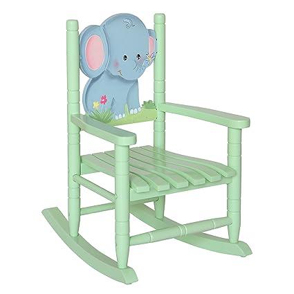 Exceptionnel Teamson Kids   Safari Wooden Rocking Chair For Children   Elephant