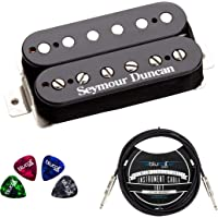 Seymour Duncan TB-4 JB Trembucker High Output Humbucker Pickup (Black Bridge) Bundle with Blucoil 10-FT Straight…