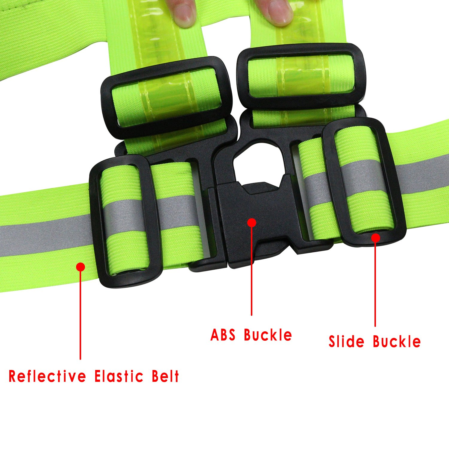 Jogging MORLIGHT LED Reflective Vest Adjustable Rechargeable High Visibility Safety Vest Gear for Night Running Cycling Motorcycling Dog Walking