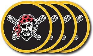 MLB Pittsburgh Pirates Vinyl Coaster Set (Pack of 4)