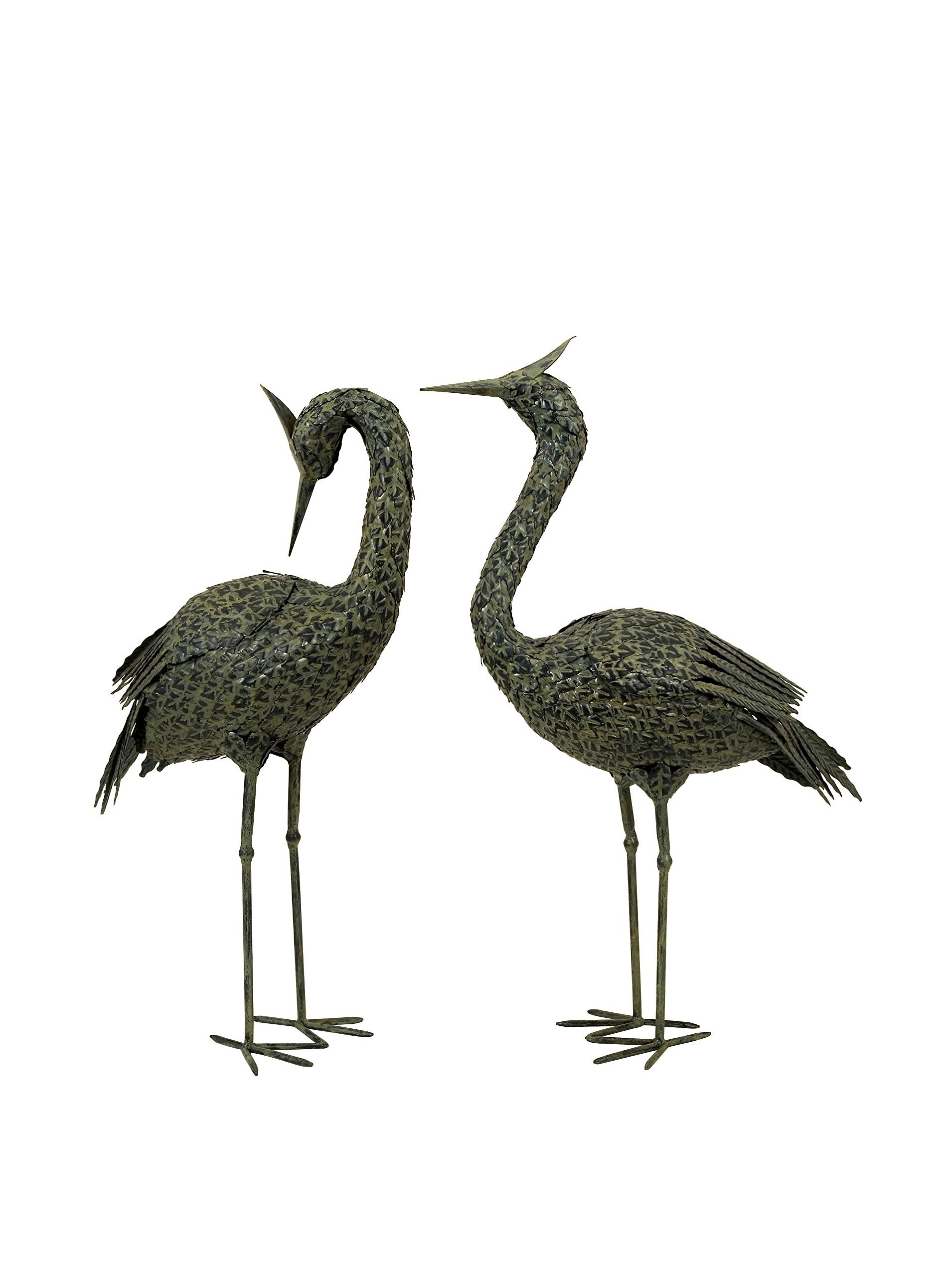 IMAX 5706-2 Metal Coastal Birds Sculpture, Set of 2