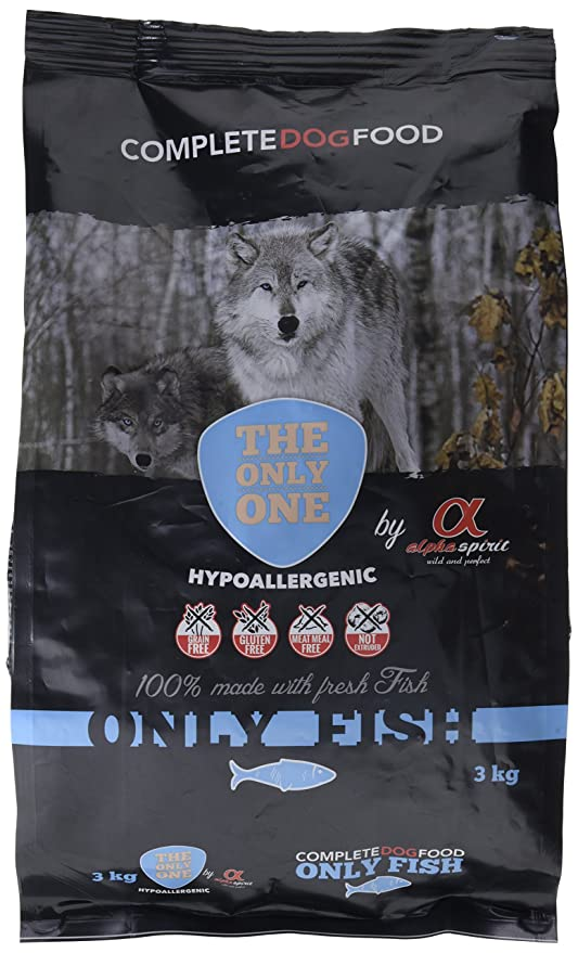 Alpha spirit Alimento Completo Seco Only Fish Hipoalergénico para Perros Adultos - 3000 gr