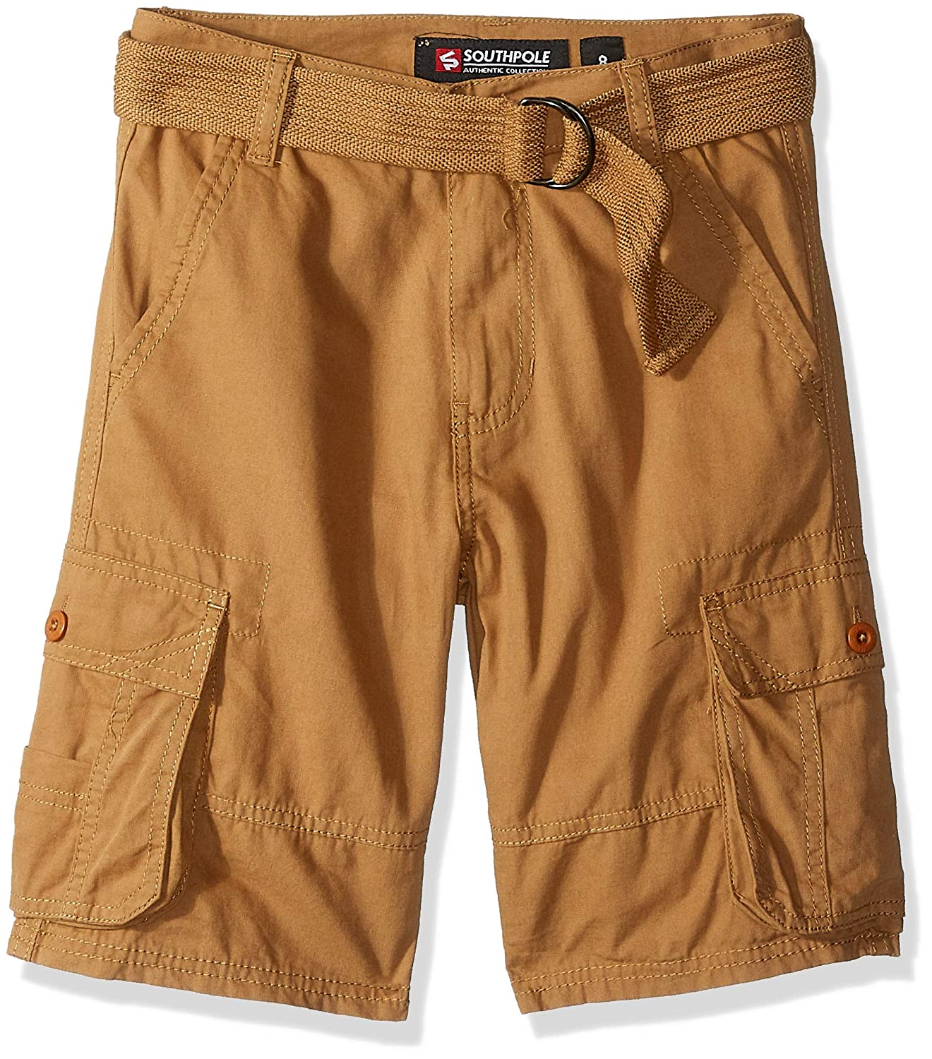 7a058f74d4 Amazon.com: Southpole Boys' Big Belted Mini Canvas Cargo Shorts in: Clothing