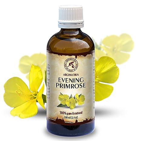 Aceite de Onagra 100ml - Oenothera Biennis - Evening Primrose Oil - Prensado en Frío y Refinado - Aceite Onagra ...