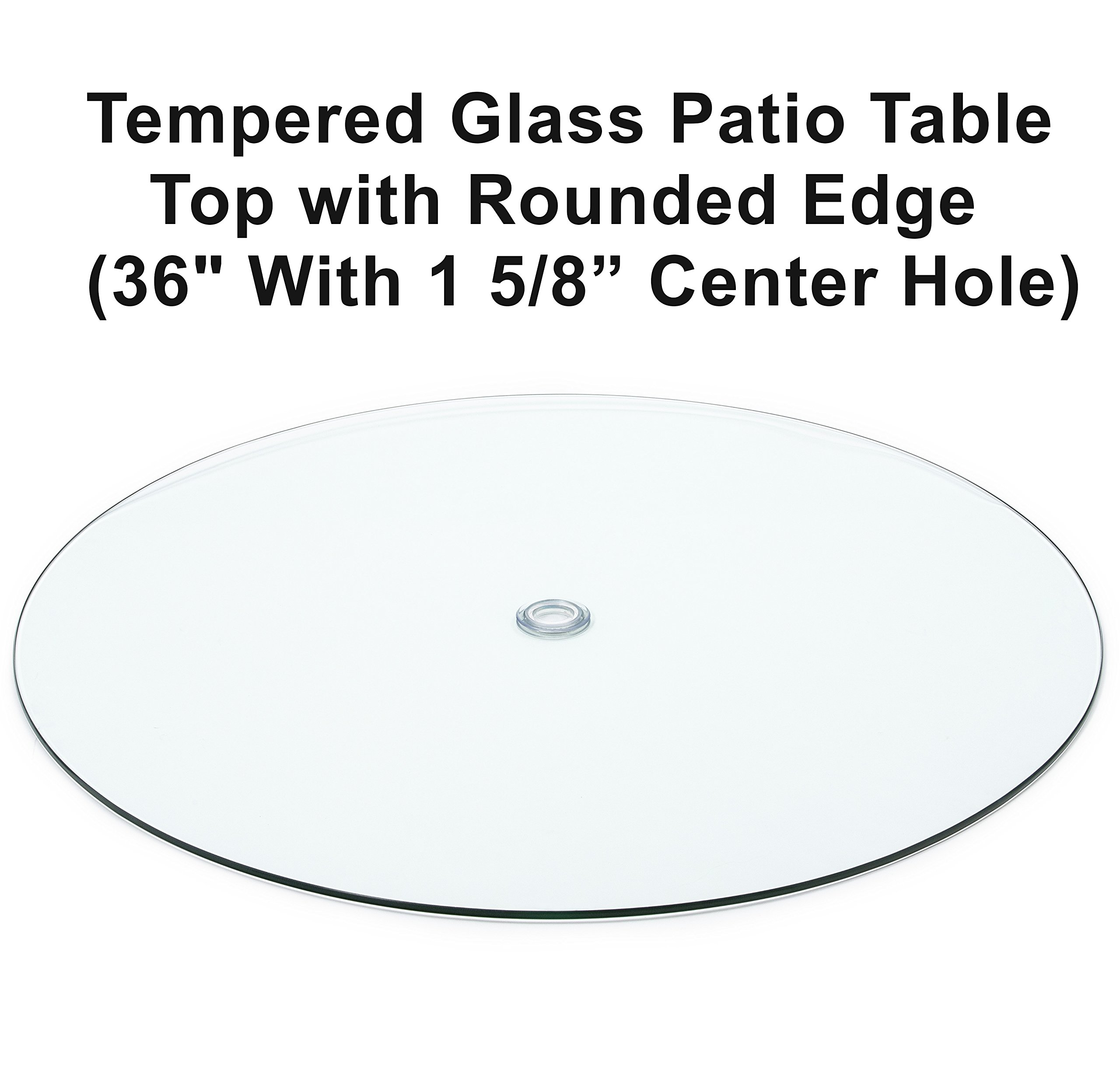 Audio Visual Direct Tempered Glass Patio Table Top With