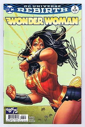 c8ce3dd9 Wonder Woman #3 Variant NM 1st Print Signed w/COA Frank Cho 2016 DC ...