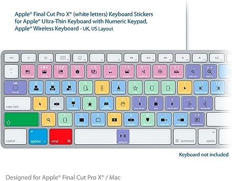 Final Cut Pro Laptop clave Atajos de Teclado Pegatinas ...