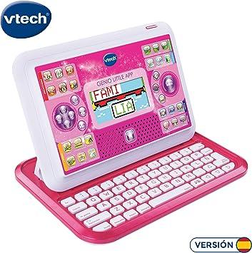 VTech Genio Little App, Juguete para aprender en casa, ordenador tablet educativo para jugar en dos modos distintos, 80 actividades que enseñan