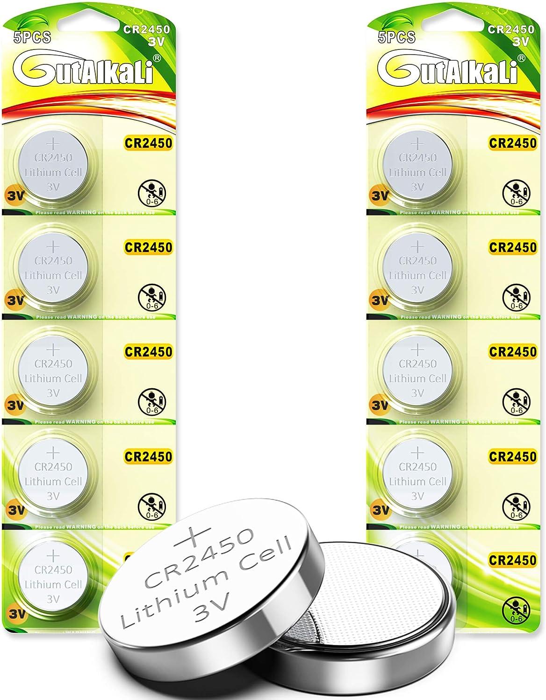 Cr2450 Lithium Knopfzellen 10 Stück 3v Lithium Elektronik