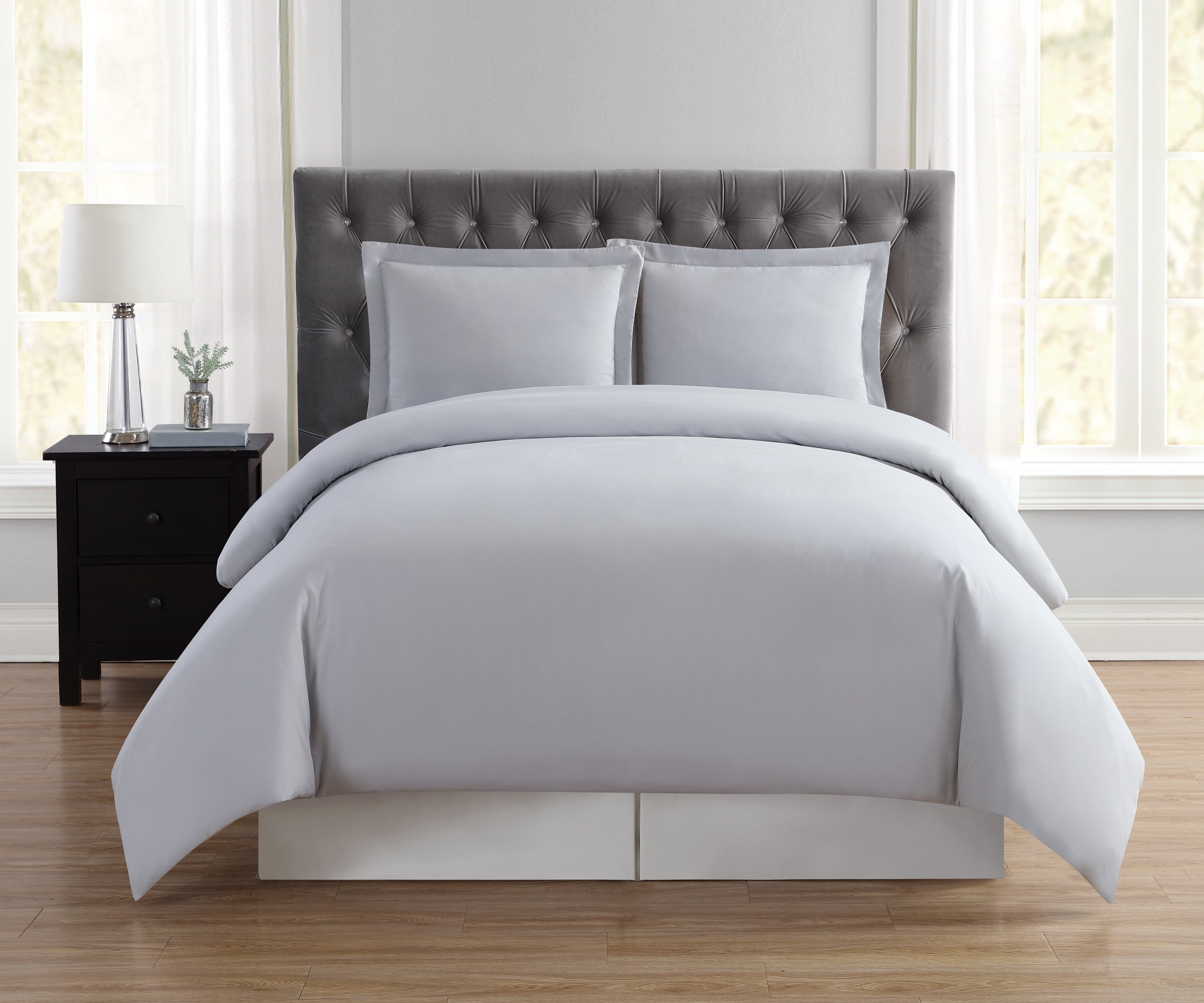 Truly Soft Everyday Elegant Duvet Set, Full/Queen, Silver Grey by Truly Soft Everyday