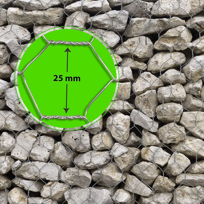 para jard/ín, balc/ón y animales peque/ños | Malla 13/y 25/mm | o Galvanizado verde revestimiento | muchos tama/ños Seis esquina alambre Cercado