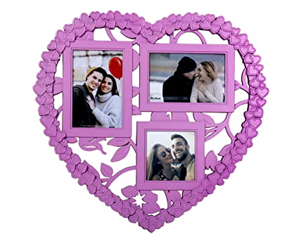 Buy Happy Selling Pink Heart Shape Collage 3 Picture In One