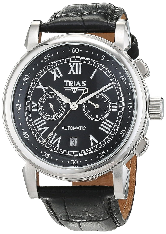 Trias Herren-Armbanduhr Analog Automatik Leder TR-T21695S