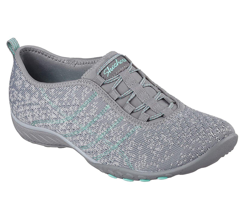 Skechers Sport Women's Breathe Easy Fortune Fashion Sneaker B06WWJL6V3 7 B(M) US|Gray
