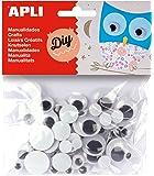 APLI - Bolsa ojos móviles negros redondos, 75 uds