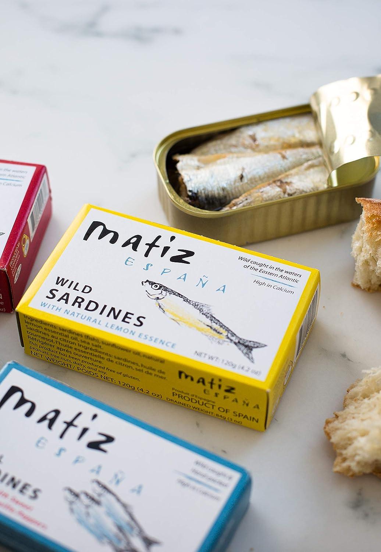 5-Pack de Matiz Gallego Sardinas con limón Empaquetadas en ...