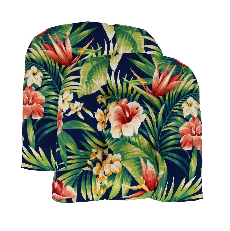日本未入荷 RSH飾りのセット2インドアアウトドアウィッカー椅子クッションU形状, B07DD4F63V 標準 標準 Navy Tropical Tropical Florall B07DD4F63V, egemjapan:fa597ea8 --- cliente.opweb0005.servidorwebfacil.com