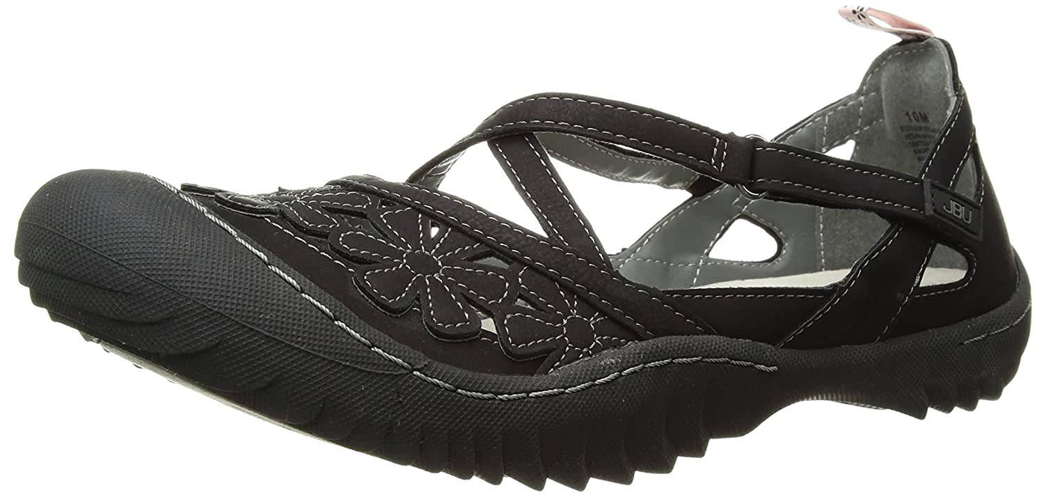JBU by Jambu Women's Blossom Vegan Mary Jane Flat B078Q7K495 7 B(M) US|Black