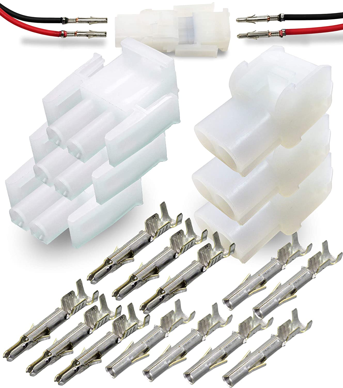 2.13mm D Latch Lock 20A Connector w//14-20 AWG 6 Pin -4Set Wire Connector Molex MLX