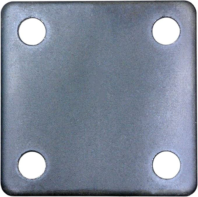"""QTY 4 STEEL BASE PLATES 3//4/"""" x 4/"""" x 4/"""" WITH 1//2-13 TAP"""