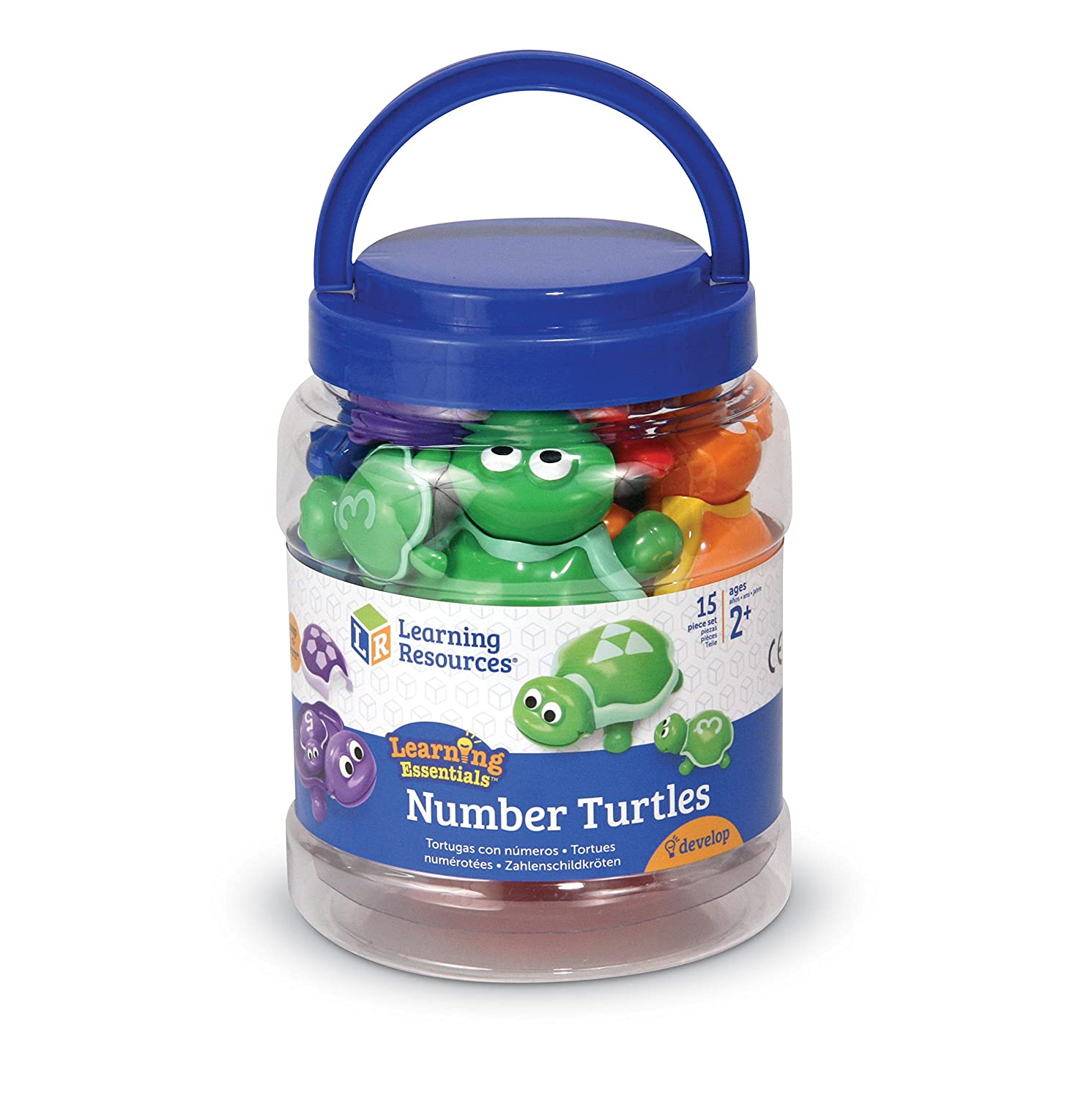 Learning Resources- Tortugas con números Snap-n-Learn, Color ...