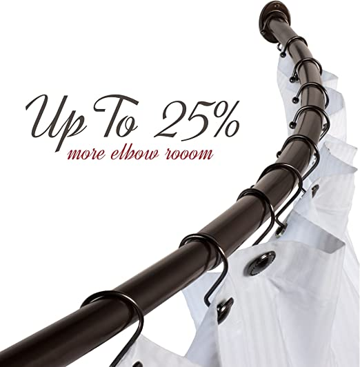 "36/"" 63/"" inch Home Basics SHOWER CURTAIN ROD Expandable Adjustable Tension NEW"