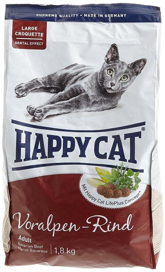Happy Cat Fit & Well Adult Beef Comida para Gatos - 1400 gr: Amazon ...