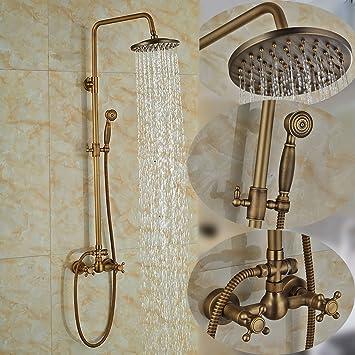 Rozinsanitary Set de grifo de ducha de latón envejecido para ...