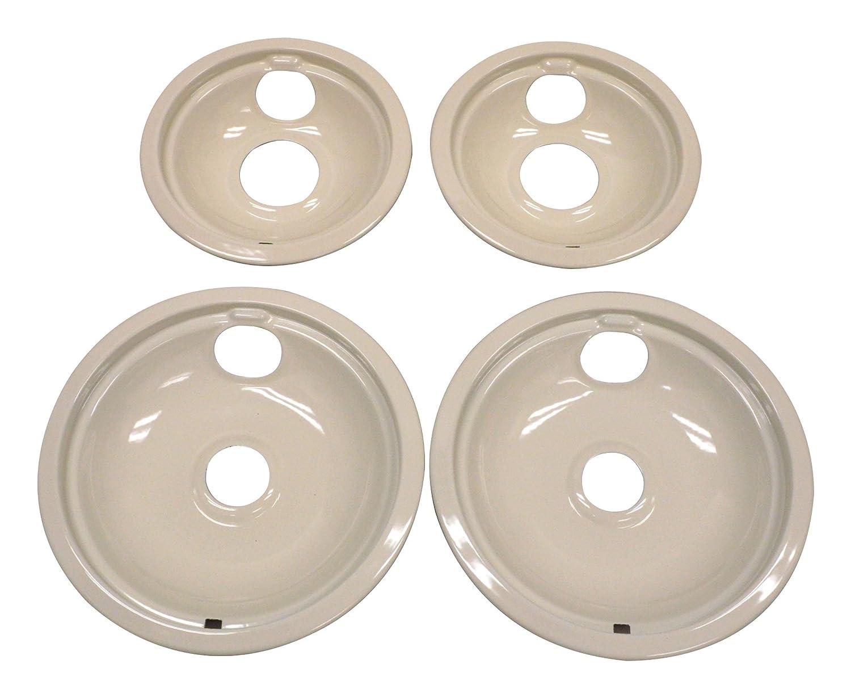 Whirlpool W10288050 Drip Pan Kit, Biscuit