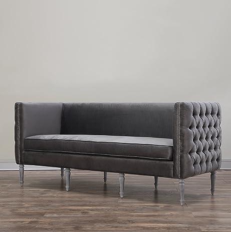 Upholstered Living Room Furniture. TOV Furniture The Bryn Collection Modern Style Velvet Upholstered Living  Room Sofa Grey Amazon com