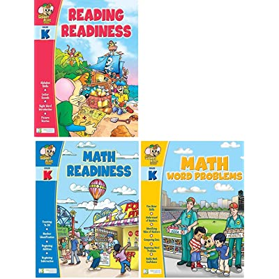 Edgeucational Publishing Smart ALEC (Grade K) 3 Pack Learning Series, Includes: Math Readiness, Reading Readiness, Math Word Problems: Toys & Games