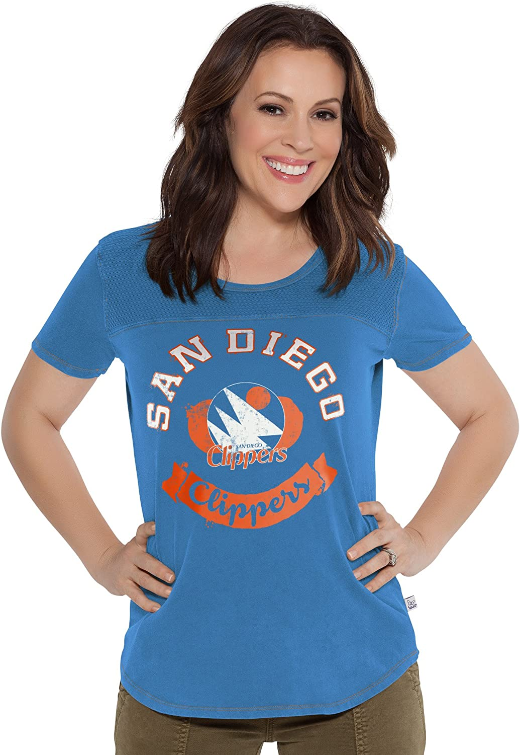 1X Heather Grey Touch by Alyssa Milano NBA Indiana Pacers Conference Tee Plus
