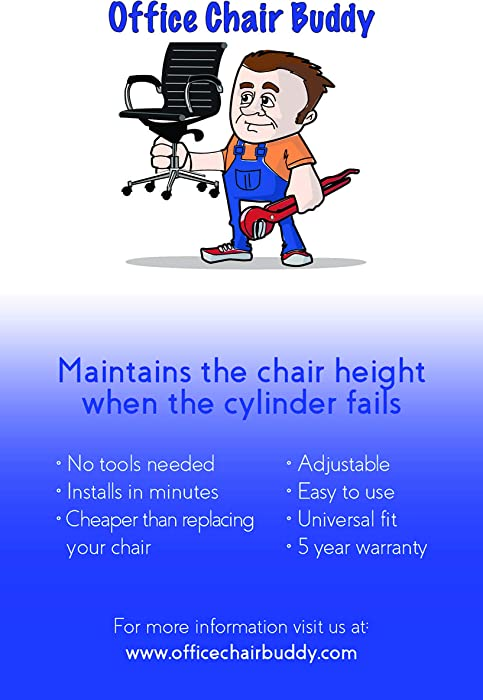 Office Chair Buddy - Fix Your Sinking Office Chair in Minutes - No Tools Needed