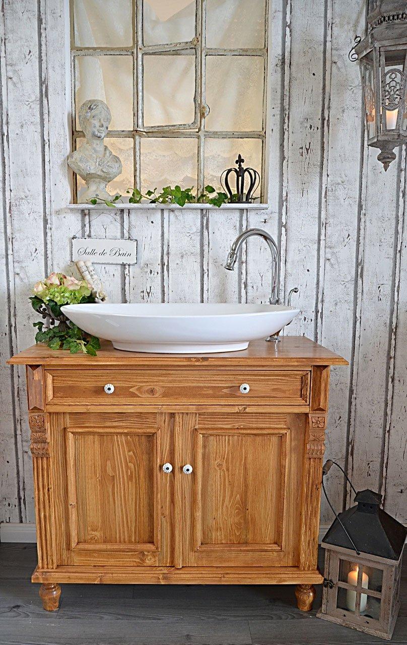 País & Amor de Muebles de baño GmbH 9197.05.64.0000 90 cm: rústico de Lavabo, Vintage, Shabby Chic de, nostálgico: Amazon.es: Hogar