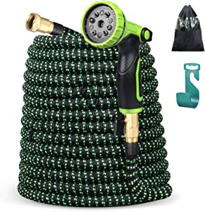 100ft Garden Hose Water Hose, ANVAVA Expandable Hose with 10 Function Spray Nozzle, Leakproof Lightweight Water Hose Kit, Yard Hose with Extra-Strong Brass Connector Easy Storage Kink Free Pipe