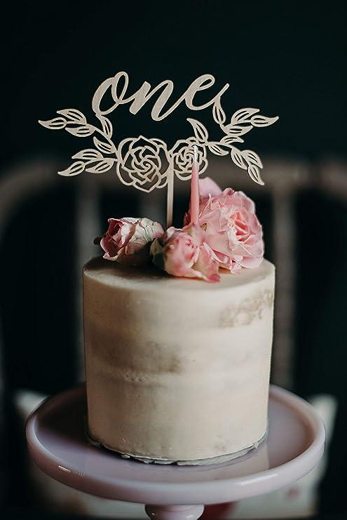 Decoración para tarta de 1er cumpleaños, decoración para ...