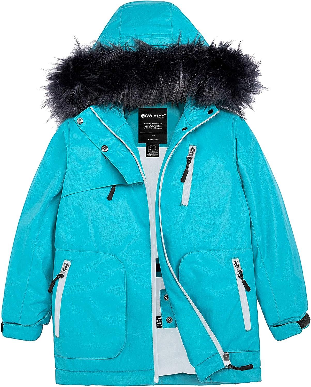 Wantdo Girls Waterproof Ski Snowboard Jacket Windproof Padded Winter Coat
