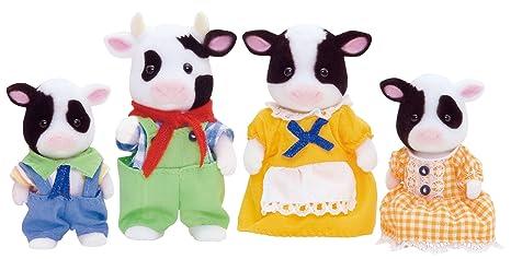 Sylvanian Families 3555 - Muñecos, diseño de familia de vacas bretonas