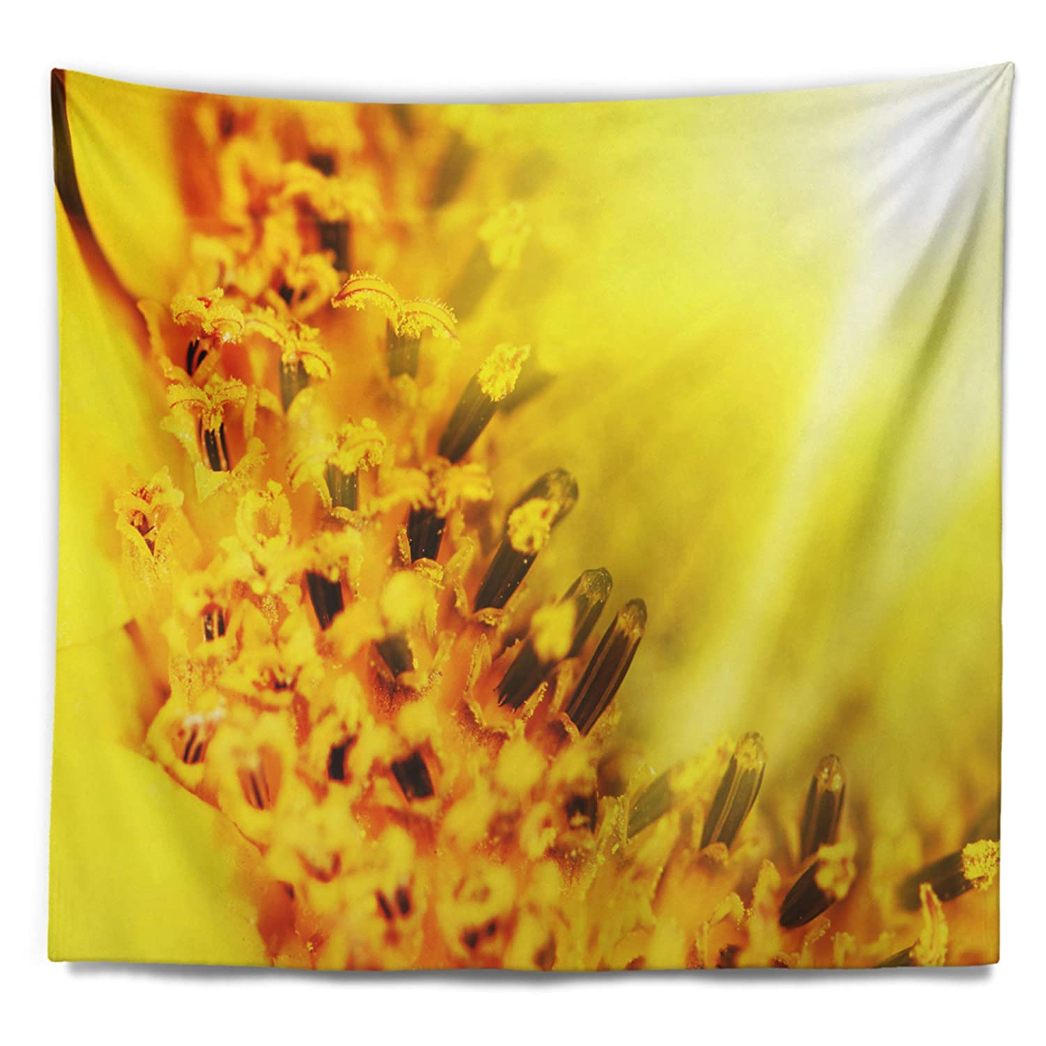 Created On Lightweight Polyester Fabric 39 in Designart TAP12448-39-32  Bright Yellow Sunflower Close Up Floral Blanket D/écor Art for Home and Office Wall Tapestry Medium x 32 in