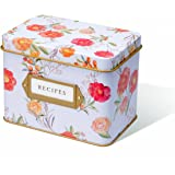"""Jot & Mark Recipe Card Complete Gift Box   Decorative Tin Box, Recipe Cards, Index Dividers (14 dividers, 50 4"""" x 6"""" cards, 1 box)"""