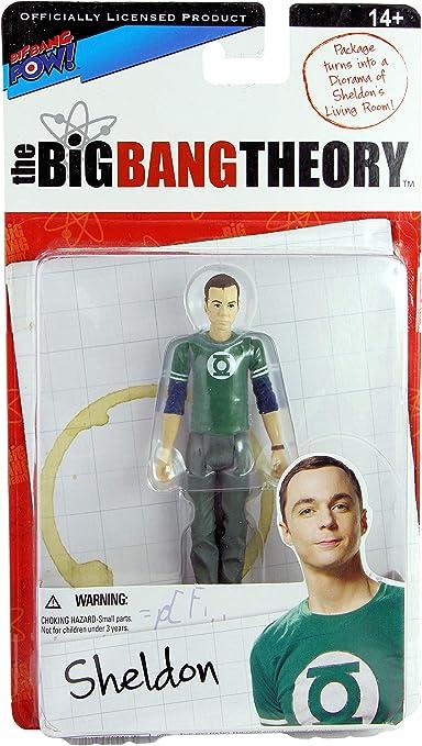 "The Big Bang Theory Sheldon In Green Lantern T-shirt 3.75/"" ACTION FIGURE SERIES 1"