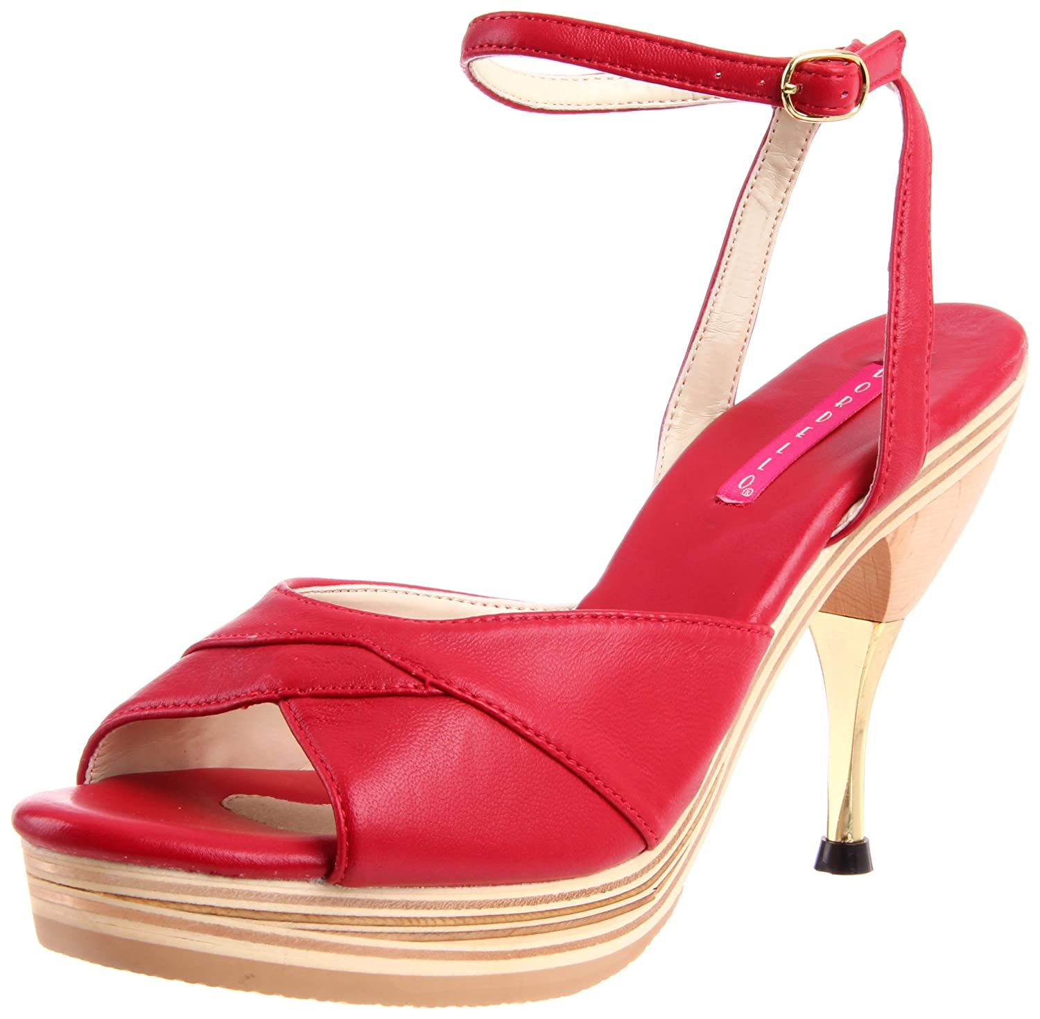 Bordello Bordello Bordello Sandalette GENIE-109LE - Rot 36 EU - 03584f