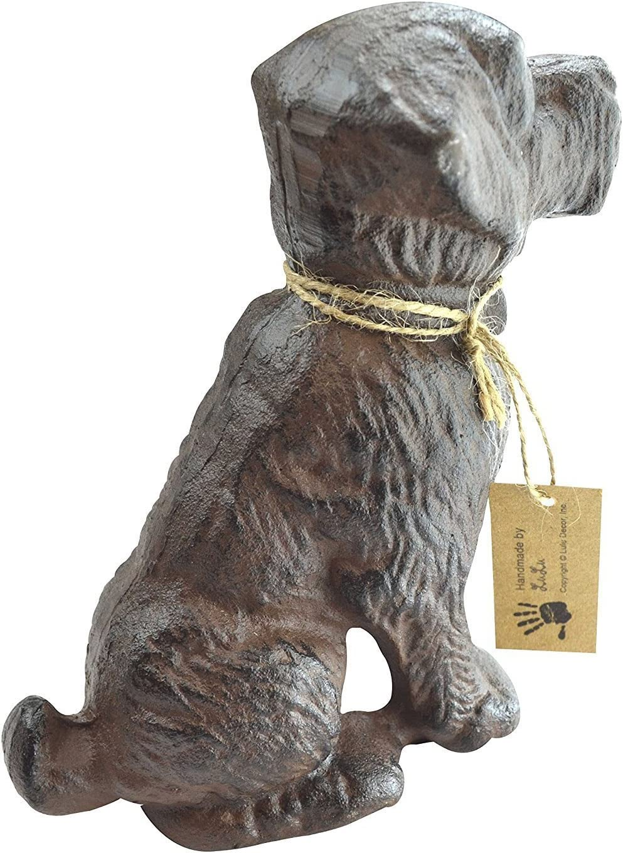 Cast Iron Decorative Dog Door Stopper