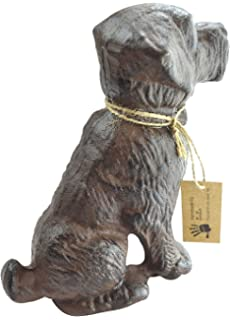Lulu Decor, Cast Iron Dog Door Stopper, Doorstop, Sculpture, Dog Statue,