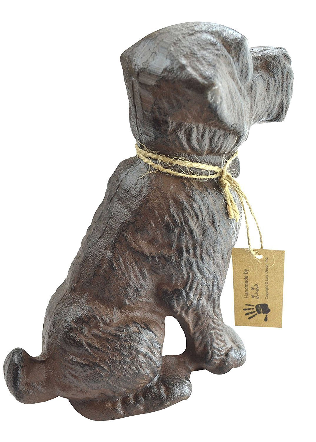 LuLu Decor, 100% Cast Iron Dog Door Stopper, Doorstop, Sculpture, Dog Statue, 6'' Height, Weighs 4.50 lb, Antique Brown (Brown 4.50 lb) by Lulu Decor (Image #1)